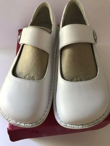 Women's Alegria Paloma Style Pal-600 SW White Napa 41 Wide New Shoe