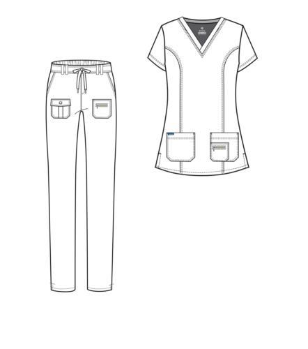Adar Women's Scrub Top/Multi Pocket Pants