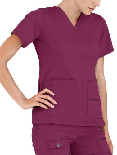 Adar Uniforms Women's Scrub Set Enhanced Top/Multi Pants