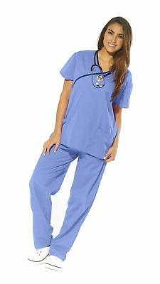 Just Love Women's Scrub Sets Medical Scrubs  Ceil With Navy