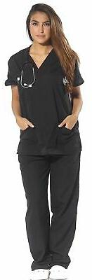 women s scrub sets six pocket medical
