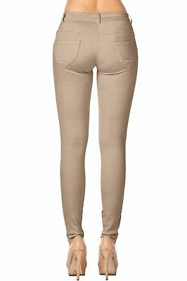 2LUV Women's Stretchy Pocket Skinny Pants