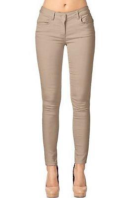 women s stretchy 5 pocket skinny color