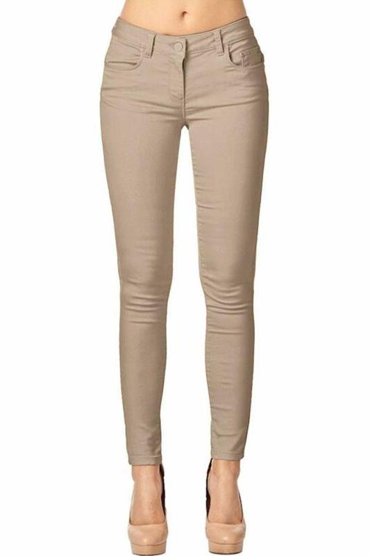 women s trendy skinny 5 pocket stretch