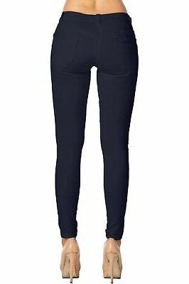 2LUV Trendy 5 Pocket Stretch Pants Navy