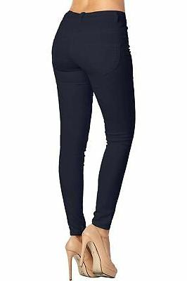 2LUV Skinny 5 Pocket Stretch Pants Navy