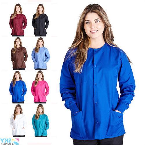 women s warm up scrubs jacket medical