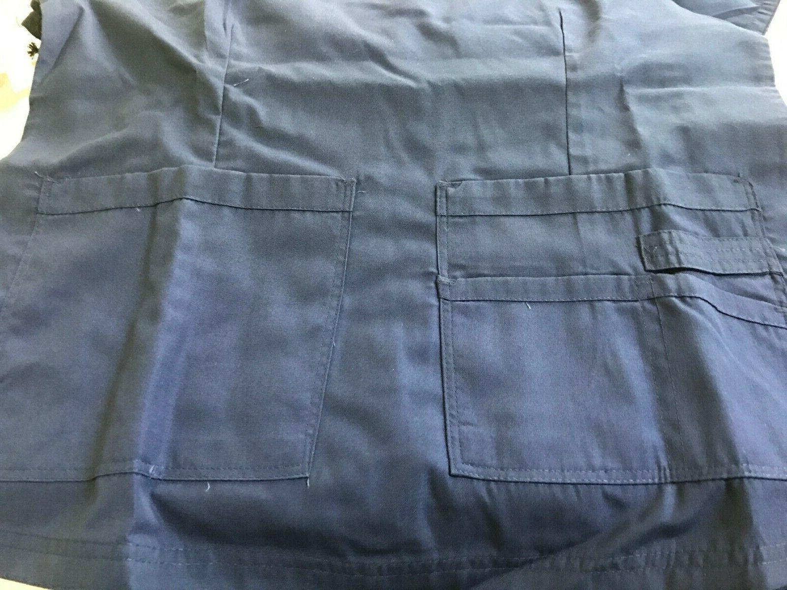 Womens Stylish Hospital Nursing Uniform Scrub Set Top