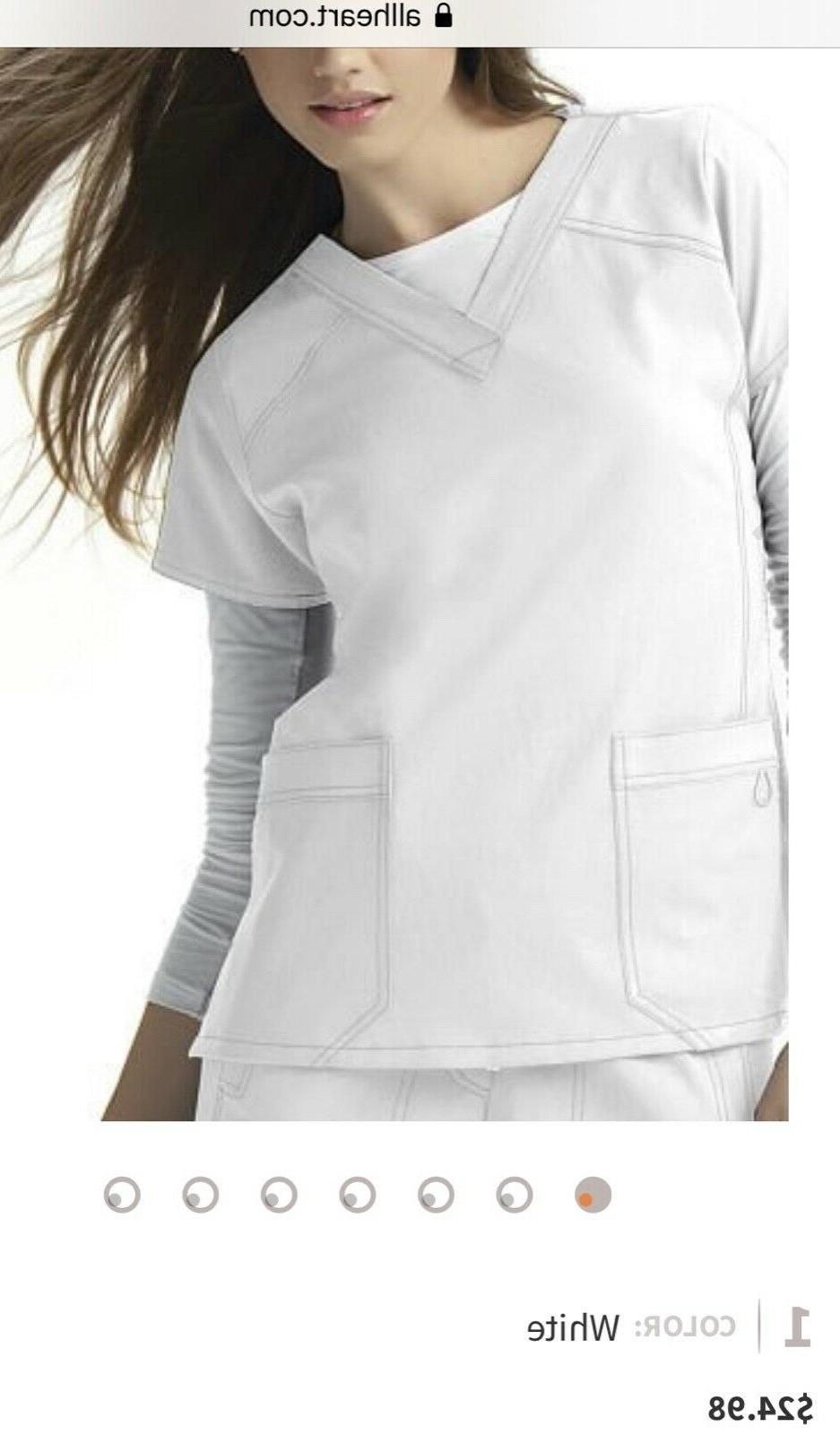 Wonder four stretch Uniforms nurse shirt blouse white