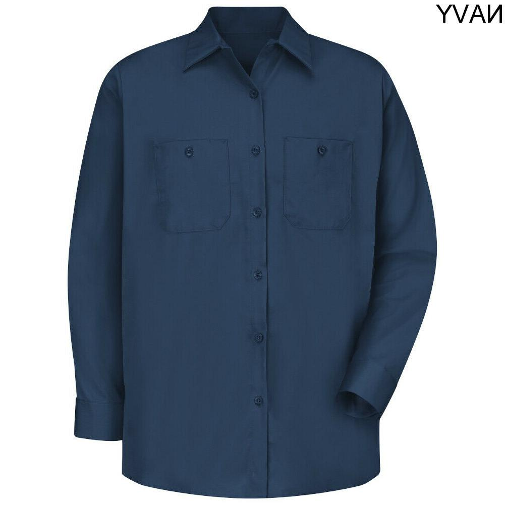 Red Work Shirt 100% Men's Industrial Uniform