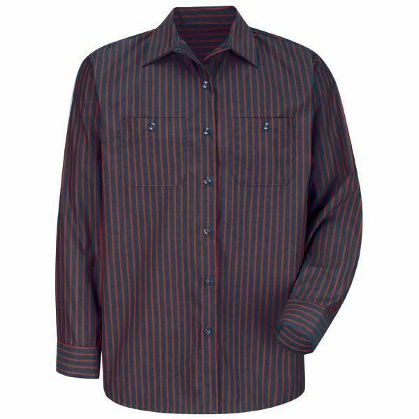Red Poplin Stripe Men's Uniform