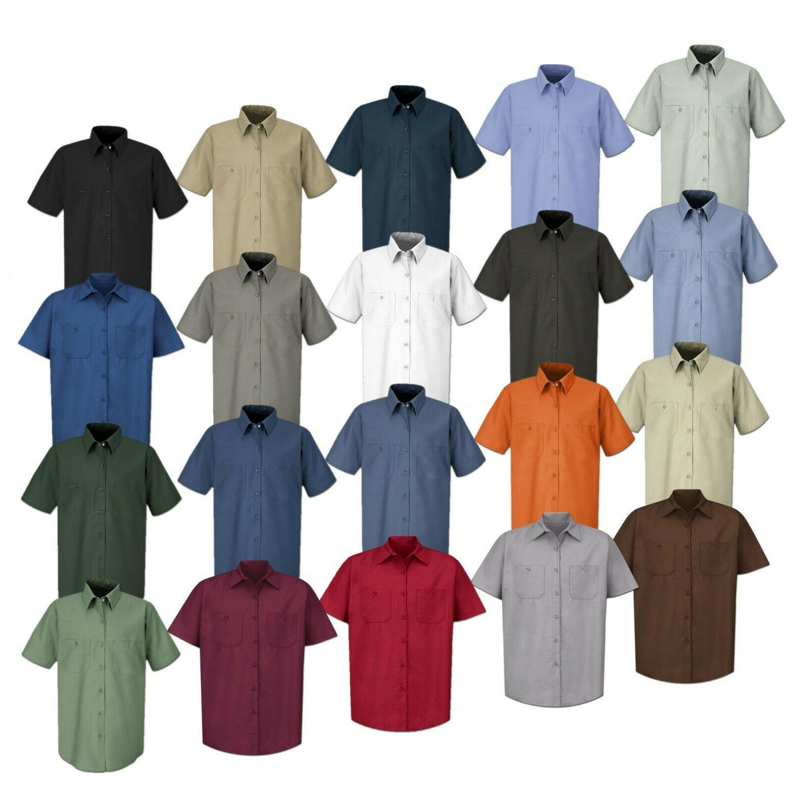 work shirt solid color 2 pocket men