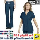 WonderWink Work  Women Medical Scrubs SET Hospital Nursing T