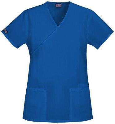 workwear 4801 women s mock wrap tunic