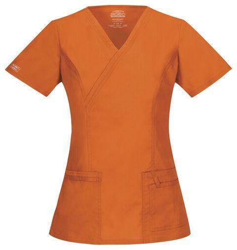 Cherokee Workwear Scrubs Women's V Neck Top 4728 PUNW Pumpki