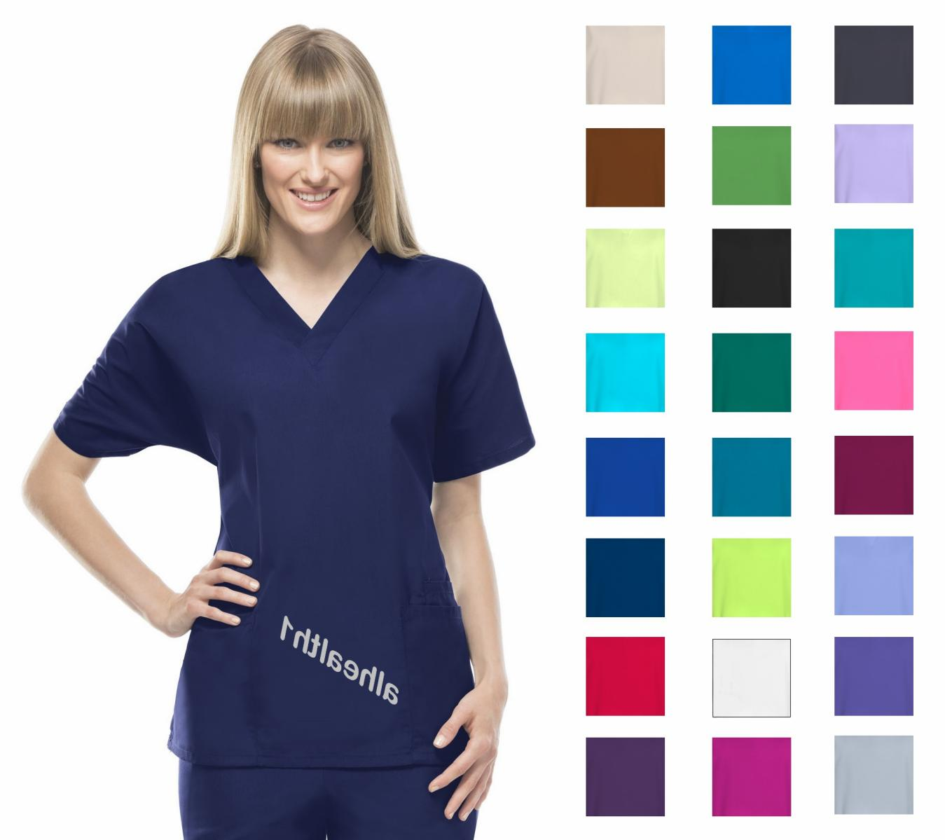 workwear v neck womens nurse scrub top