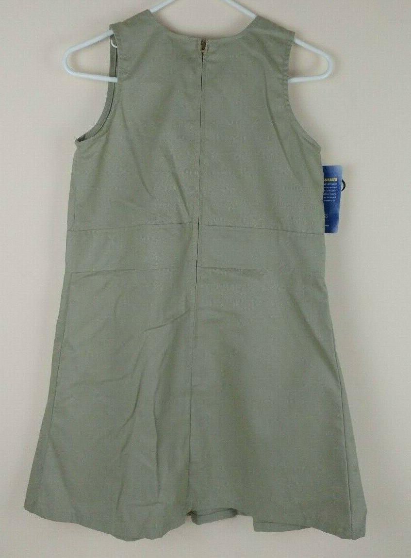 Dickies Youth Girl's 10 1/2 Khaki Jumper Pleated Uniform
