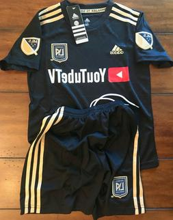 Adidas LAFC YouTubeTV Children's Soccer Uniform Size Medium