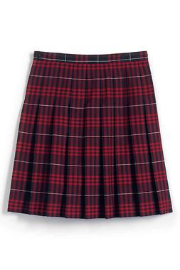 Lands' End Girls 10 School Uniform Pleated Skirt Below the K