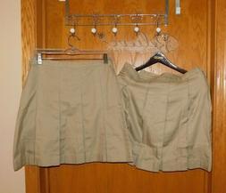 Lands' End LOT Girls School Uniform Box Pleat Skirt 14 Top o