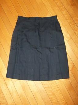 Lands' End School Uniform Girls 16 Box Pleat Skirt Below Kne