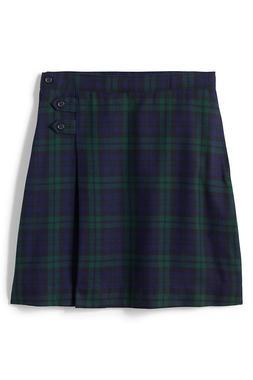 Lands End Solid School Uniform A-line Below Knee Skirt Girls