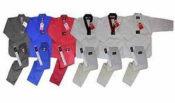 Light weight Taekwondo Uniform Gi White w/ White Belt Tae Kw