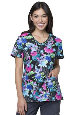 Lilo And Stitch Cherokee Scrubs Tooniforms Disney V Neck Top