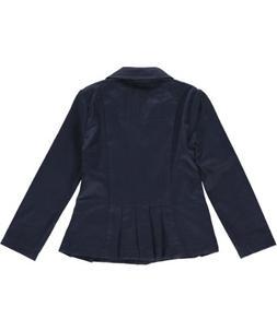 French Toast Little Girls' Pleat Pockets Twill Blazer - navy