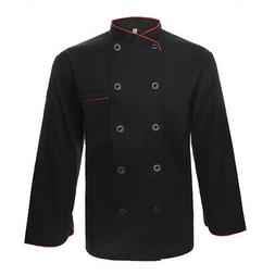 TopTie Long Sleeve Chef Coat Jacket Unisex Kitchen Cooking C