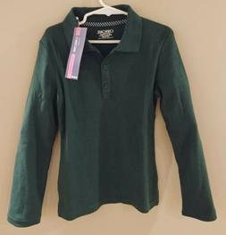 NEW Cherokee Long Sleeve Collar Girls School Uniform Polo Sh