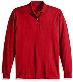 Jerzees Men's Long-Sleeve Jersey Polo