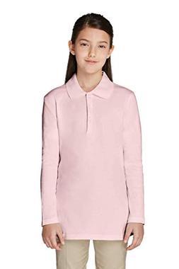 4ea5c840e63 French Toast Big Girls Long Sleeve Picot Collar Interlock Po