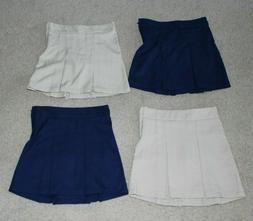 Lot of 4 NEW Cat & Jack girls school uniform skirts skorts s