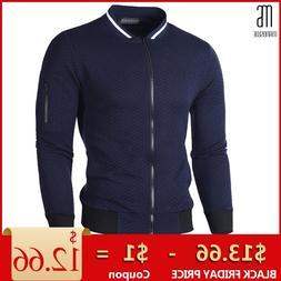 Manoswe Men's <font><b>Jacket</b></font> Standing Collar Cas