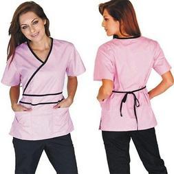 Medical Nursing Women Scrubs NATURAL UNIFORMS Contrast Mock