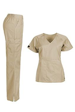 MedPro Women's Medical Scrub Set  Khaki XS