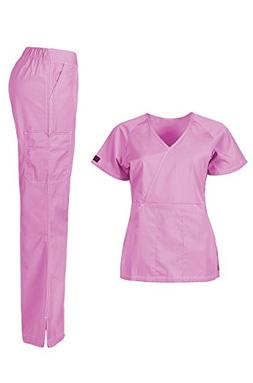 MedPro Women's Medical Scrub Set  Hot Pink S