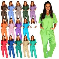 Medical Scrub Unisex Men Women Natural Uniforms Hospital Nur