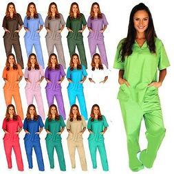 Medical Scrub Unisex Men Women Natural Uniforms Hospital Nur