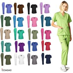 Dagacci Medical Uniform Women and Man Scrubs Set Medical Scr