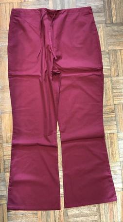 Adar Medical Uniforms Flare Leg Scrub Pants Burgundy Color S