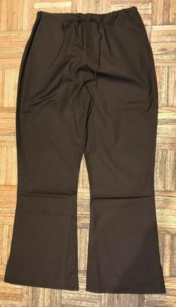 Adar Medical Uniforms Flare Leg Scrub Pants SZ Large  Chocol