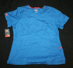 Dickies Medical Uniforms Originals Scrubs Top Blue NWT Size