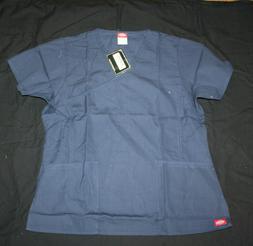 Dickies Medical Uniforms Originals Scrubs Top Navy NWT Size