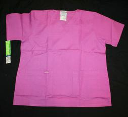 Landau Medical Uniforms Originals Scrubs Top Violet NWT Size