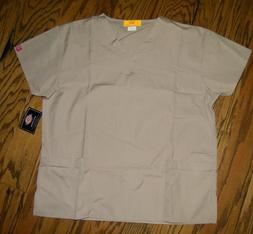 Dickies Medical Uniforms Scrubs Top Khaki tan 10506A Size XL