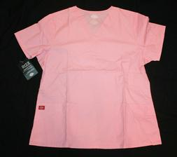 Dickies Medical Uniforms Soft Works EDS Scrubs Top Pink NWT