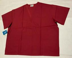 Adar Medical Uniforms Unisex Doctor/Nurse Scrub Top Burgundy