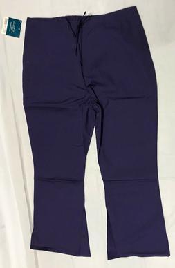 Adar Medical Uniforms Women's Flare Leg Scrub Pants SZ XL Pu